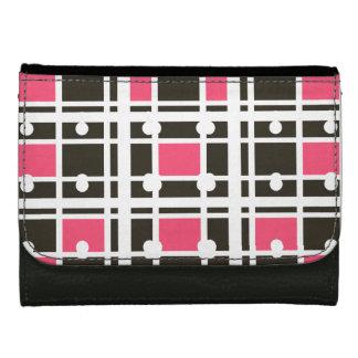 Ville-Neige-Rose-Noir-Portefeuille-Multi-Styles