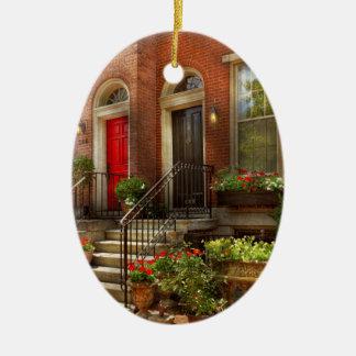 Ville - PA Philadelphie - jolie Philadelphie Ornement Ovale En Céramique
