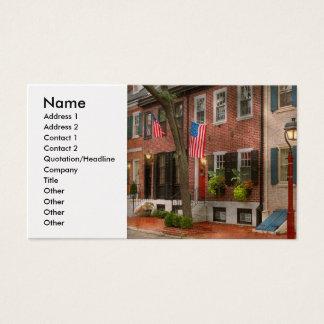 Ville - PA Philadelphie - maison urbaine Cartes De Visite