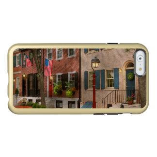 Ville - PA Philadelphie - maison urbaine Coque iPhone 6 Incipio Feather® Shine
