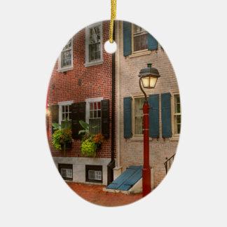 Ville - PA Philadelphie - maison urbaine Ornement Ovale En Céramique