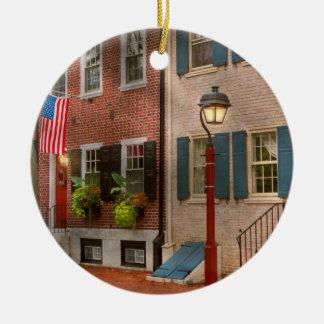 Ville - PA Philadelphie - maison urbaine Ornement Rond En Céramique