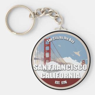 Ville par la baie, San Francisco la Californie Porte-clé Rond
