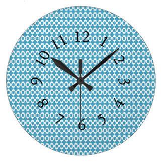 Ville-Pays-Bleu-Chic-Mur-Horloges Grande Horloge Ronde