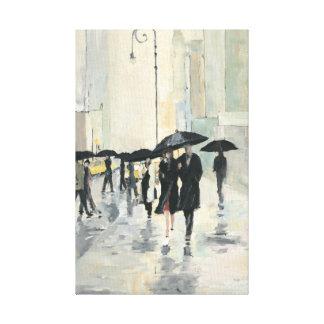 Ville sous la pluie toiles