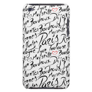 Villes de motif de la France Coque Barely There iPod