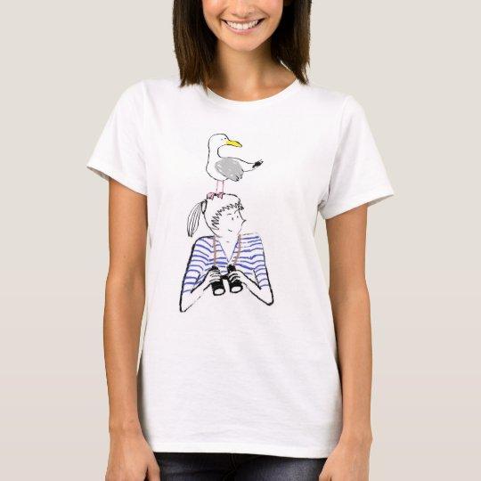 Vilnia et son goéland t-shirt