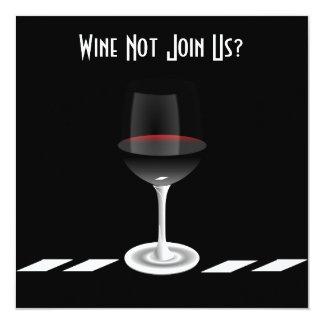 Vin de cocktail ne pas nous joindre ? Coutume Carton D'invitation 13,33 Cm