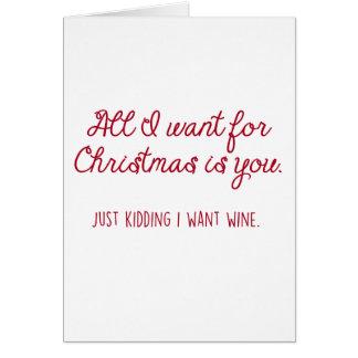 Vin de Noël Carte De Vœux