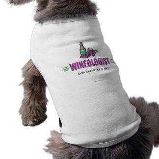 Vin drôle t-shirt pour chien