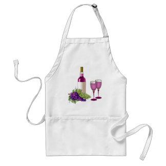 Vin et pain grillé de raisins tabliers