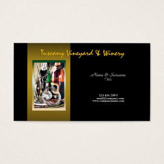 Vin personnalisable de vignoble d'établissement cartes de visite