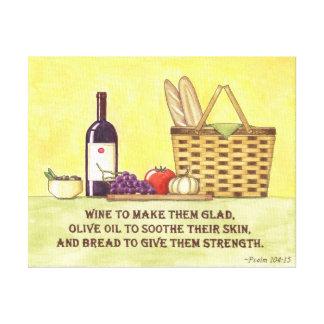 Vin, pétrole et pain toiles