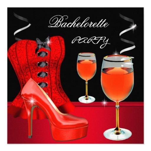 Vin rouge de noir de corset de chaussure de partie bristols personnalisés