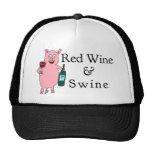 Vin rouge et porcs casquettes de camionneur