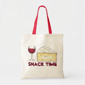 Vin rouge merlot de temps de casse-croûte + sacs fourre-tout
