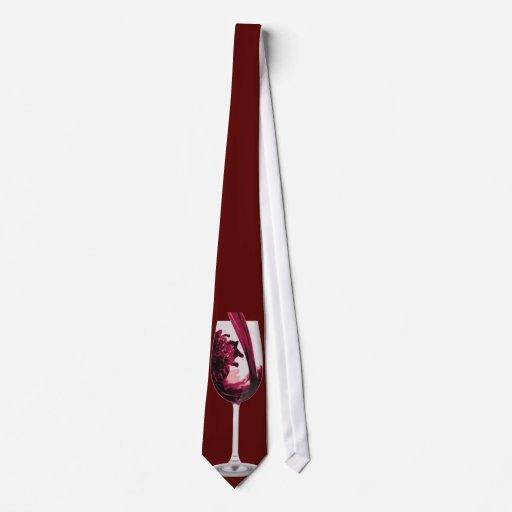 Vin rouge rouge - cravate