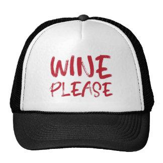 vin svp (en rouge) casquette de camionneur