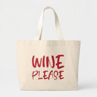 vin svp (en rouge) grand sac