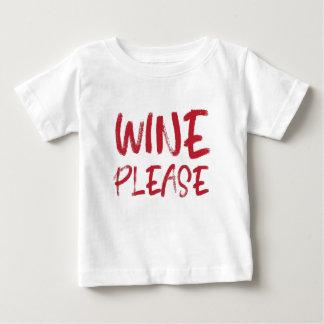 vin svp (en rouge) t-shirt pour bébé