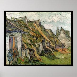 Vincent van Gogh | a couvert des cottages de Posters