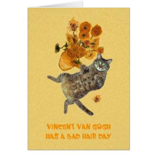 Vincent van Gogh a un mauvais jour de cheveux Carte De Vœux
