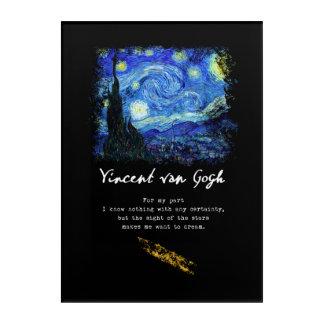 Vincent van Gogh. Art de poème de peinture de nuit