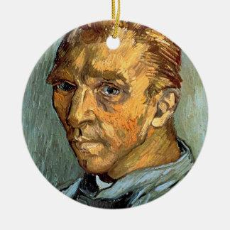 VINCENT VAN GOGH - autoportrait sans barbe Ornement Rond En Céramique