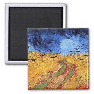 Vincent van Gogh - champ de blé avec les Magnet Carré