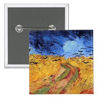 Vincent van Gogh - champ de blé avec les Pin's