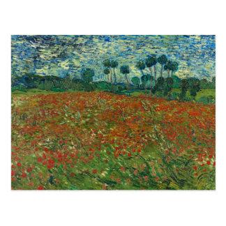 Vincent van Gogh - champ de pavot Carte Postale