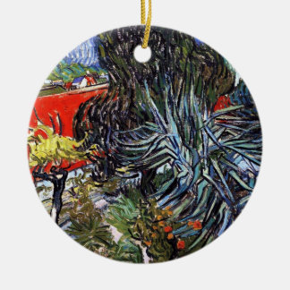 Vincent van Gogh - docteur Gachets Garden In Ornement Rond En Céramique