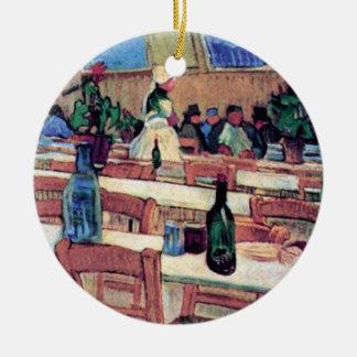 Vincent van Gogh - intérieur de restaurant Ornement Rond En Céramique