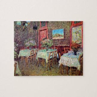 Vincent van Gogh - intérieur d'un restaurant Puzzle