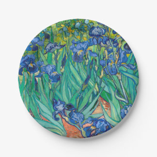 VINCENT VAN GOGH - iris 1889 Assiettes En Papier