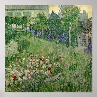 Vincent van Gogh jardin de | Daubigny, 1890 Poster