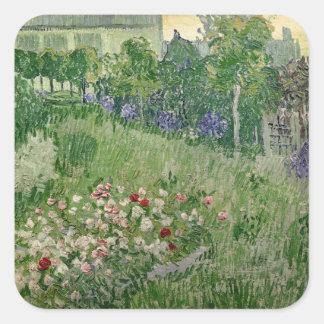 Vincent van Gogh jardin de | Daubigny, 1890 Sticker Carré