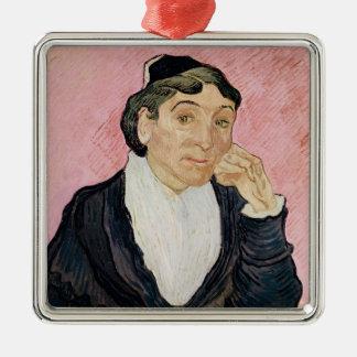 Vincent van Gogh | la femme d'Arles Ornement Carré Argenté