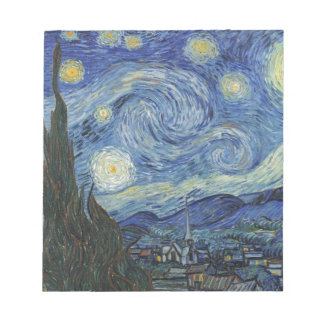 Vincent van Gogh | la nuit étoilée, juin 1889 Blocs Notes