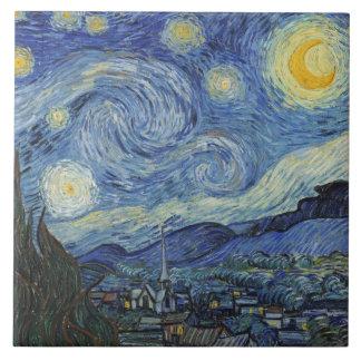 Vincent van Gogh | la nuit étoilée, juin 1889 Grand Carreau Carré