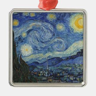Vincent van Gogh | la nuit étoilée, juin 1889 Ornement Carré Argenté