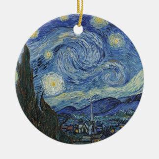 Vincent van Gogh | la nuit étoilée, juin 1889 Ornement Rond En Céramique