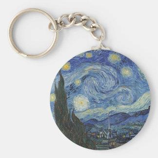 Vincent van Gogh | la nuit étoilée, juin 1889 Porte-clé Rond