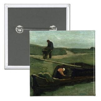 Vincent van Gogh | le bateau de tourbe, 1883 Pin's