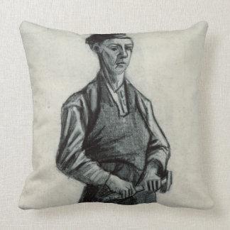 Vincent van Gogh | le jeune forgeron, 1882 Oreiller