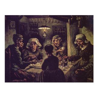 Vincent van Gogh - l'eaterspng de pomme de terre Carte Postale