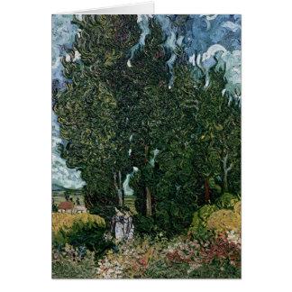 Vincent van Gogh | les cyprès, c.1889-90 Carte De Vœux