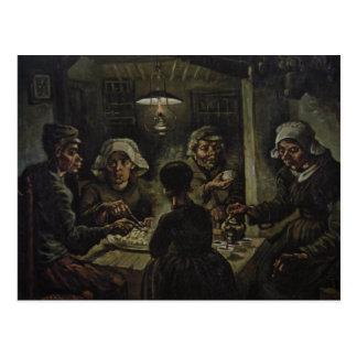 Vincent van Gogh - les mangeurs de pomme de terre Carte Postale