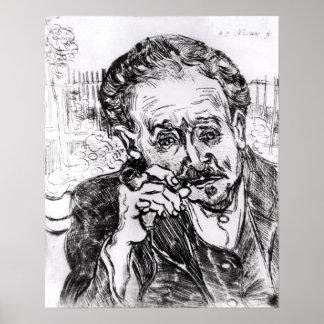 Vincent van Gogh | l'homme avec le tuyau Poster