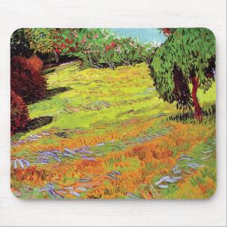 Vincent van Gogh - pelouse ensoleillée en parc Tapis De Souris